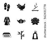 beauty salon icons set. simple... | Shutterstock .eps vector #562431778