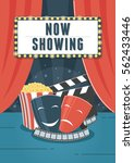 now showing cinema. can be used ... | Shutterstock .eps vector #562433446