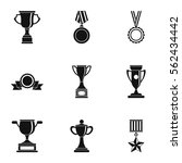 rewarding icons set. simple... | Shutterstock .eps vector #562434442