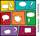 speech bubbles set on the comic ... | Shutterstock .eps vector #562439542