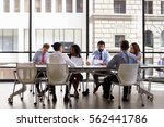 corporate business team meeting ... | Shutterstock . vector #562441786