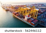 container container ship in... | Shutterstock . vector #562446112