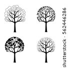 vector illustration. tree in... | Shutterstock .eps vector #562446286