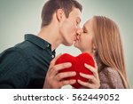two young people in love... | Shutterstock . vector #562449052