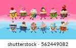 design a poster with cartoon...   Shutterstock .eps vector #562449082