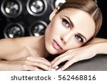 sensual glamour portrait of... | Shutterstock . vector #562468816