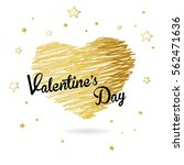 valentine heart created from... | Shutterstock .eps vector #562471636