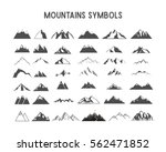 mountain vector shapes and... | Shutterstock .eps vector #562471852