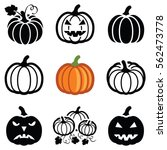 pumpkin halloween icon... | Shutterstock .eps vector #562473778