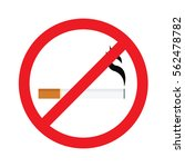 round no smoking sign  quit... | Shutterstock .eps vector #562478782