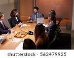 business people at evening... | Shutterstock . vector #562479925