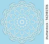 mandala  round vector...   Shutterstock .eps vector #562481506