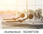 modern gym interior with...   Shutterstock . vector #562487158