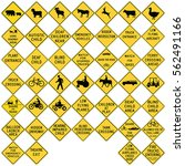 road signs in the united states.... | Shutterstock .eps vector #562491166