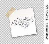 paper sheet on translucent... | Shutterstock .eps vector #562493122