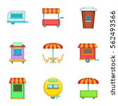 cafe on wheels icons set.... | Shutterstock .eps vector #562493566