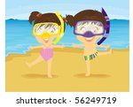 illustration of girl and boy... | Shutterstock . vector #56249719