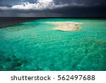 empty little sand island in... | Shutterstock . vector #562497688