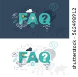 faq web page banner concept... | Shutterstock .eps vector #562498912
