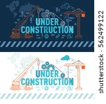 under construction web page... | Shutterstock .eps vector #562499122