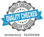 quality checked. stamp. sticker.... | Shutterstock .eps vector #562504306