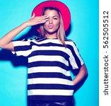 high fashion look.glamor... | Shutterstock . vector #562505512