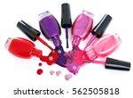 colored nail polish splash ...   Shutterstock . vector #562505818