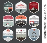 set of mountain adventure and... | Shutterstock .eps vector #562514776