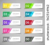 set of banner templates. modern ... | Shutterstock .eps vector #562514962
