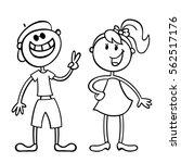 vector illustration in line art.... | Shutterstock .eps vector #562517176