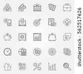 investment icons set   vector... | Shutterstock .eps vector #562517626