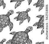 seamless hand drawn  pattern... | Shutterstock .eps vector #562518886