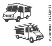 set of food trucks isolated on... | Shutterstock .eps vector #562520458