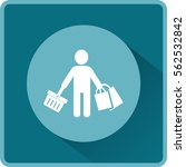 flat icon. shopping. | Shutterstock .eps vector #562532842