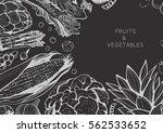 organic food design template.... | Shutterstock .eps vector #562533652