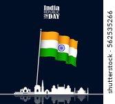 india republic day celebration. ... | Shutterstock .eps vector #562535266