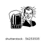 retro beer guy   clip art | Shutterstock .eps vector #56253535