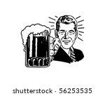 Retro Beer Guy - Clip Art   Shutterstock vector #56253535