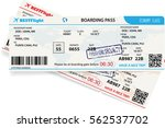 vector template of boarding... | Shutterstock .eps vector #562537702