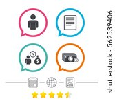 bank loans icons. cash money...   Shutterstock .eps vector #562539406