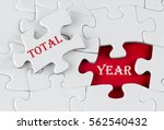 white puzzle with void in the...   Shutterstock . vector #562540432