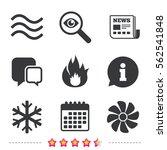 hvac icons. heating ... | Shutterstock .eps vector #562541848