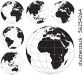 Black And White Vector Earth...