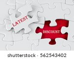 white puzzle with void in the...   Shutterstock . vector #562543402