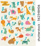 vector zoo alphabet with cute... | Shutterstock .eps vector #562548406