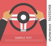 hands holding steering wheel in ... | Shutterstock .eps vector #562552408