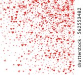 red hearts confetti. random... | Shutterstock .eps vector #562553482