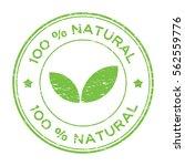 grunge green 100 percent... | Shutterstock .eps vector #562559776