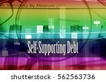 Small photo of Self-Supporting Debt - Hand writing word to represent the meaning of financial word as concept. A word Self-Supporting Debt is a part of Investment&Wealth management in stock photo.