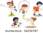 illustration of boys and girls... | Shutterstock . vector #56256787